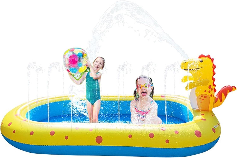 Piscinas Infantiles de PVC mejoradas, Piscina Inflable para niños, Piscina Inflable con patrón de tiburón Dinosaurio 170x105x65cm