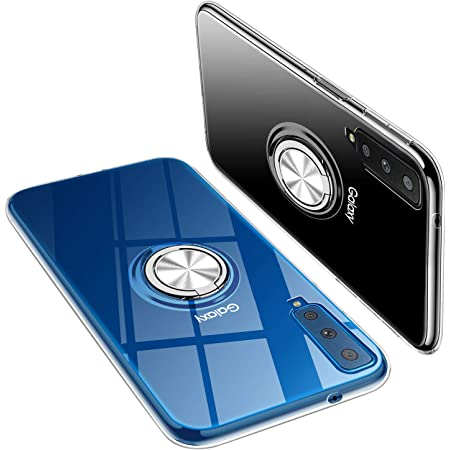Galaxy A7 ケース クリア ギャラクシー A7 ケース 2018版 スマホケース 携帯カバー リング付き ト TPU 耐衝撃 車載ホルダー 軽量 薄型 擦り傷防止 取り出し易 落下防止