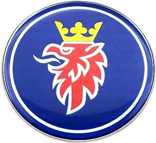 * 1/* * 68/mm neuf bleu fonc/é Couleur r/ésine avant Badge pour Saab * 3/broches