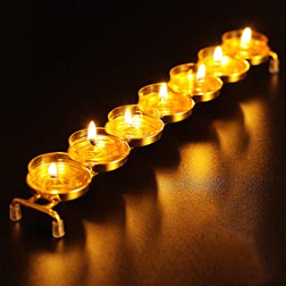 Tied Ribbons Golden Tealight Candle Holder for Christmas Decoration Home Decor Centerpiece Dinner Table - Diwali Decoratio...