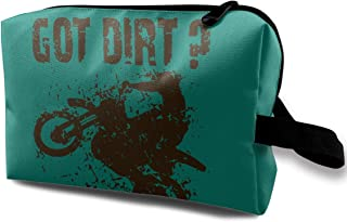 Danny Lopeze Skincare Portable Got Dirt Bike Motorcross Racing Organizer Toiletry Case with Zipper for Women Skincare Cosmetic Pouch