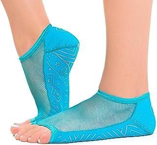 OCOCOcolors grip pilates barre dance socks - non slip - open toe for yoga & ballet