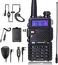 UV5R Radio 5W Ham Radio Upgraded Version of Baofeng UV-5R Radio Rechargeable Two Way Radio Dual Band UHF VHF Radio
