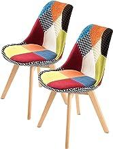 La Bella Replica Eames Fabric Padded Dining Chair - Multi X2