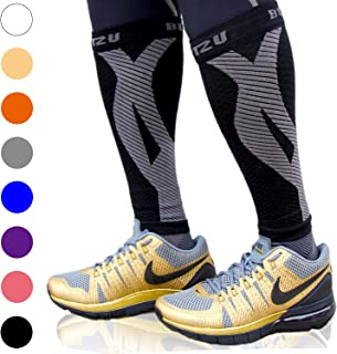 BLITZU Calf Compression Sleeves For Women & Men Runners Leg Compression Socks