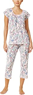 Women's Crinkle Printed Knit Pajama Set
