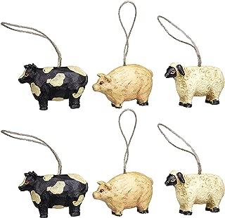 Mini Farm Animal Ornaments Set/6 (1.5