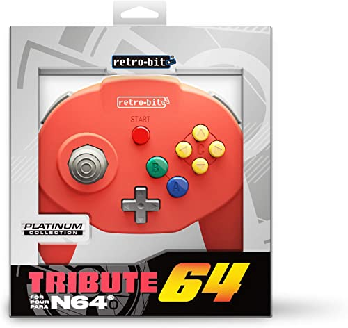 Retro-Bit Tribute 64 for Nintendo 64 - Red