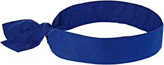 Ergodyne Chill-Its 6700 Evaporative Cooling Tie Bandana - Solid Blue - Pack 12