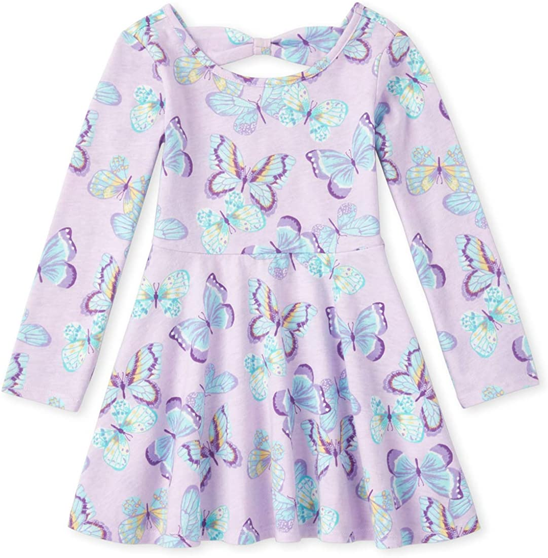 The Children's Place Girls' Long Sleeve Pleated Dress