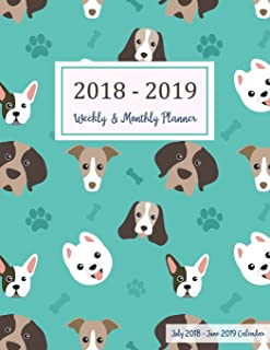 July 2018 - June 2019 Calendar: Two Year - 12 Months Daily Weekly Monthly Calendar Planner For Academic Agenda Schedule   Organizer Logbook and ... Planner 2018-2019 8.5 x 11) (Volume 12)