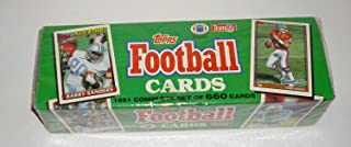 1991 Topps NFL Football Cards Unopened Factory Set (660 different cards) - Includes Rookie Cards and cards of top NFL stars including Emmitt Smith, John Elway, Barry Sanders, Dan Marino, Joe Montana, Jerry Rice, Troy Aikman, and dozens of other top superstars!