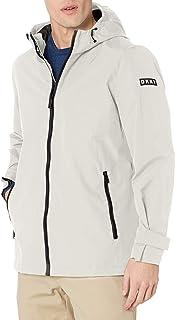 DKNY mens Lightweight Taslan Hooded Rain Jacket Rain Jacket