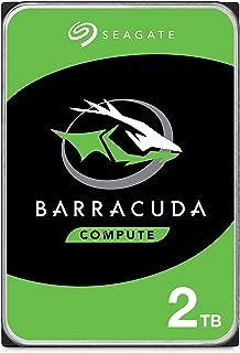 Seagate BarraCuda 2 TB HDD, interne Festplatte (8,9 cm (3,5 Zoll), 7200 U/Min, 256 MB Cache, SATA 6 Gb/s, silber) Modellnr.: ST2000DMZ08, FFP