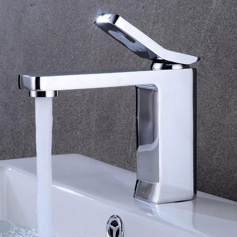 Jruia Modern High Bathroom Basin Tap Bath Tap Single Lever Mixer Sink Tap High Spout for Bathroom Brass, silver