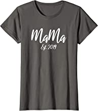 Womens Mama Est. 2019 First Time Mom T-Shirt Gift for New Mamas