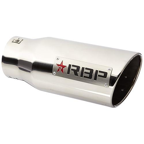 RBP RBP-46003 Polished Stainless Steel Dual-Badged Exhaust Tip