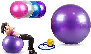 SturdyFoot - Pelota de ejercicio (55 cm, 65 cm, 75 cm, 85 cm, antiexplosión y extra gruesa, bola suiza con bomba, bola de nacimiento para yoga, pilates, fitness, embarazo y trabajo