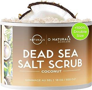 O Naturals Gommage Exfoliant Visage Corps au Noix de Coco et Sel de la Mer Morte. Anti-Cellulite Raffermissant Hydratant N...