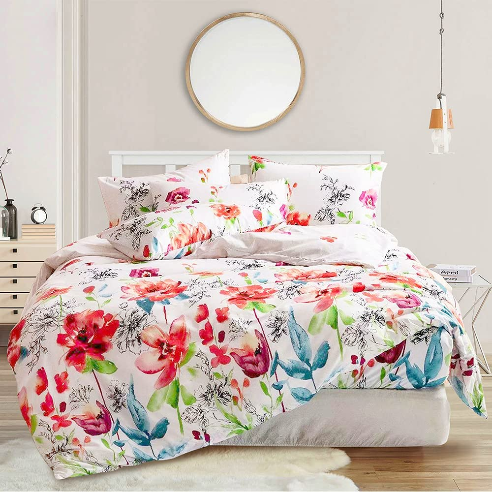 Clearance SALE Limited time Shatex Summer Comforter Twin Max 43% OFF Size Sets White fo Floral