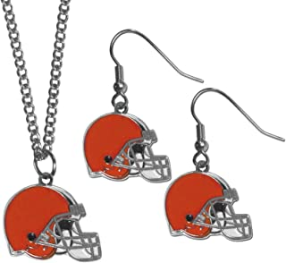 Siskiyou NFL womens Dangle Earrings and Chain Necklace Set