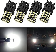 Antline 3157 3156 3057 4157 3056 LED Bulbs White, 12-24V Super Bright 1000 Lumens Replacement for Backup Reverse Lights, Tail Brake Lights, Turn Signal Lights (Pack of 4)