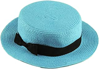 Family Match Boater Sun caps Ribbon Mother Kids Straw Beach hat Panama Summer Hats for Kids Women Straw hat