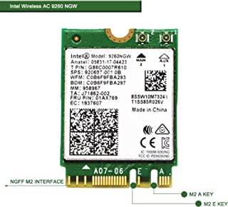 Wireless Network Adapter for Laptop and Desktop PCs?NGFF M2 2230 Wi-Fi Card-2.4GHz 300Mbps or 5GHz 1733Mbps(160MHz) Blueto...