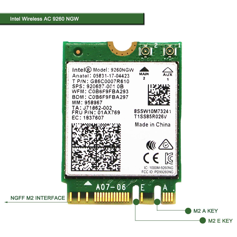 2X2 Ac+Bt No Vpro 2230 Gigabit Intel Wireless-Ac 9260