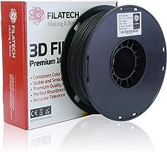 Filatech 3D Printing PETG Filament, 1.75 mm +/- 0.03 mm, 1.0 Kg Spool, 100% Virgin Material, Made in UAE Black Pg120
