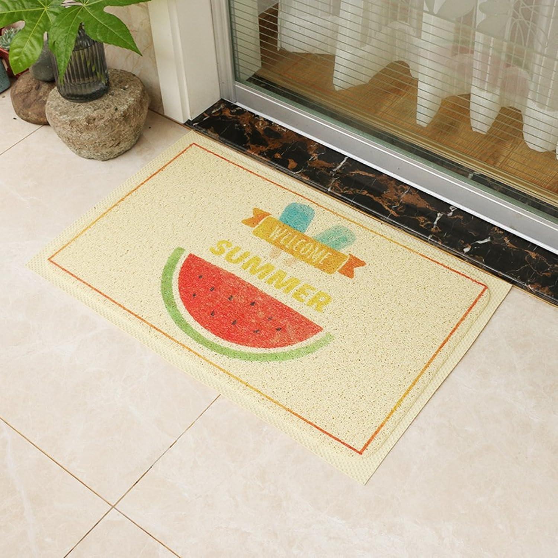WENRAN Anti Slip Bead Doormat, Doormat to Clean Your shoes for Hall Living Room PVC Carpet-C 80x120cm(31x47inch)