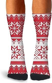 Man's Vintage Colorful Collection Of Christmas Elements Socks Custom Non-slip High Socks