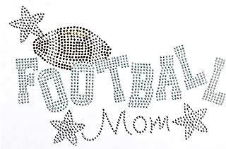 Football Mom with Stars Rhinestone Iron on Hotfix Transfer Football Mom Bling - 8