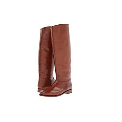Frye Abigail Riding (Whiskey Smooth Polished Veg) Cowboy Boots