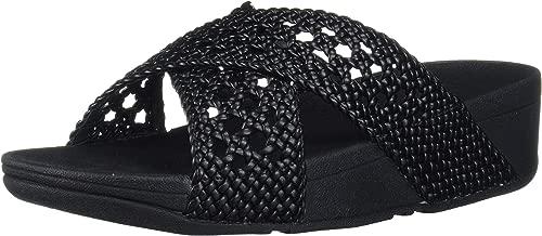 FITFLOP Women's Lulu Wicker Slide Sandal