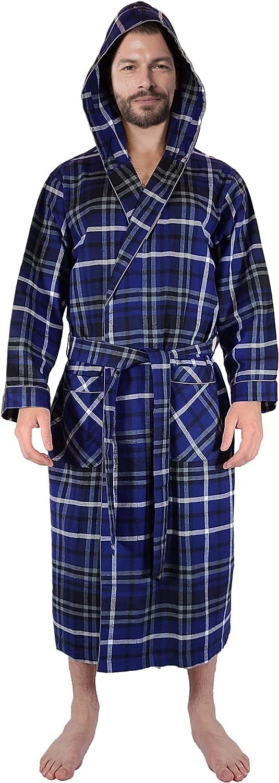 Andrew Scott Spring new work Men's Outlet SALE Warm Robe Ho Brush Flannel Cotton 100%