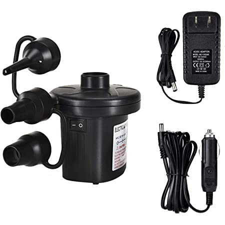 Pump Household Car Dual-Use Battery Pump Outdoor Battery Electric Pump//Air Pump Chargable Mattress Inflatable Boat 1pcs Voltage: 220V