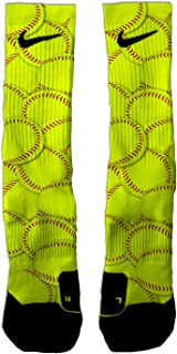 Custom Elite Softball Theme Athletic Crew Socks