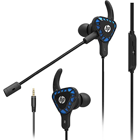 HP Gaming Earbuds with mic Deep Bass Earphones in-Ear Headset Stereo Headphone with Detachable Dual Microphone for Mobile Gaming, Xbox One, PS4, Pro, PC - Black