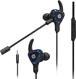 HP Auriculares para juegos con micrófono de graves profundos auriculares estéreo con micrófono dual desmontable para juegos móviles, Xbox One, PS4, Pro, PC, color negro