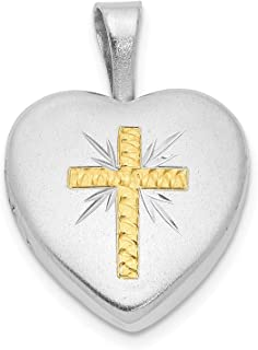 20mm x 15mm Mia Diamonds 925 Sterling Silver Solid Holy Communion Charm