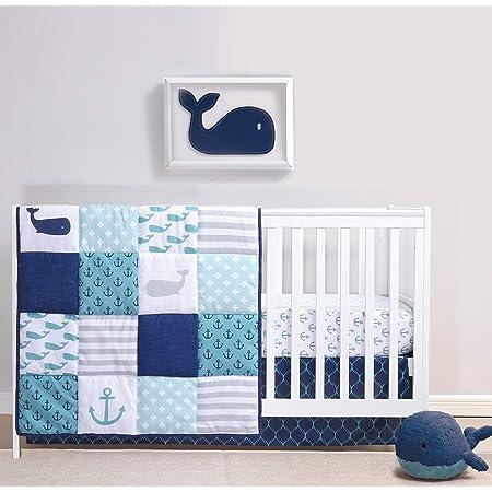 Summer Flowers Baby Crib Quilt  36 x 45  Baby Shower Gift