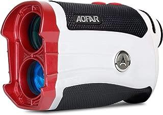 AOFAR G2 Slope Golf Rangefinder,600 Yards White Range Finder,Flagpole Lock, Vibration, Waterproof, Gift Packaging