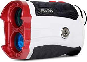 AOFAR GX-2s Slope Golf Rangefinder، 600 Yard White Range Range Finder، Flagpole Lock، Vibration، 6X 25mm ضد آب ، کیف حمل ، باتری ، بسته بندی هدیه