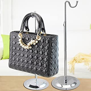 10 Pack Silver metal Countertop Handbag Display Hook Chrome Purse Hook