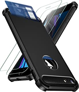 iPhone 7 Plus / 8 Plus Case with Card Holder and [ Screen Protector Tempered Glass x2Pack]SUPBEC Wallet Case Ultra-Thin Sh...