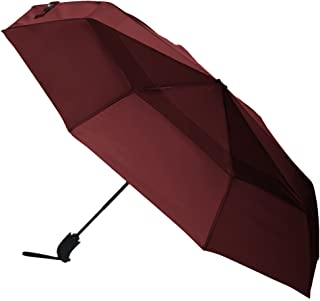 Automatic Open Travel Umbrella with Wind Vent - Red