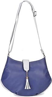Aisna Women's Divine Sling Bag (ASNB-040)(Light Blue::Blue)