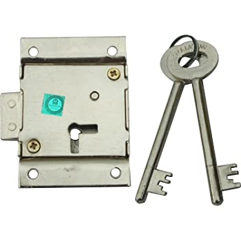 Ramson Iron Force 6 Levers Cupboard Lock with 2 Keys (Silver, 70 Mm)