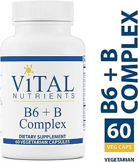 Vital Nutrients - B6 + B-Complex - Balanced B Vitamin Formula With Extra B6 - 60 Capsules per Bottle